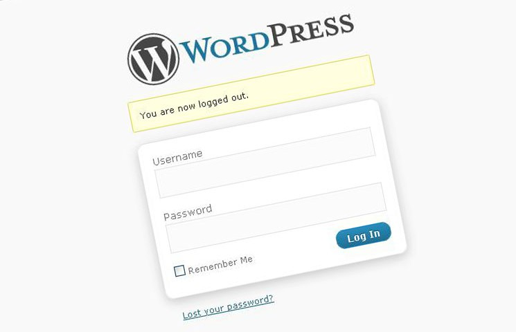 admin wordpress